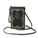 Once upon a time book clutch frontal view