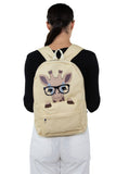 Nerdy Baby Giraffe Canvas Backpack, backpack style on model