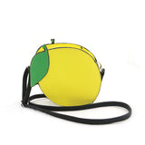 Sleepyville Critters - Lemon Crossbody Bag in Vinyl Material front view