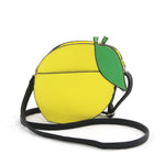 Sleepyville Critters - Lemon Crossbody Bag in Vinyl Material back view
