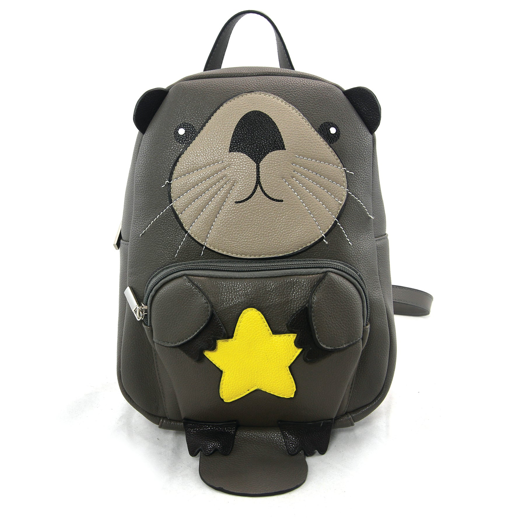 Mini Otter Backpack in Vinyl Material front view