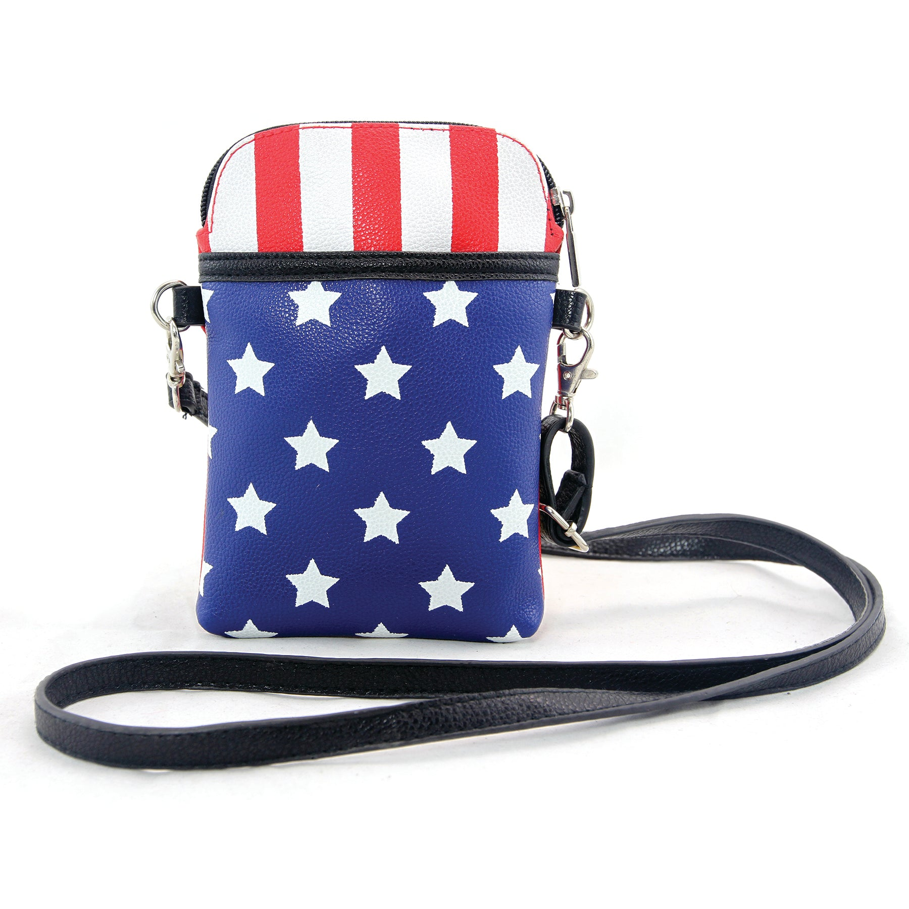 Americana Small Crossbody Bag in Vinyl Material front view