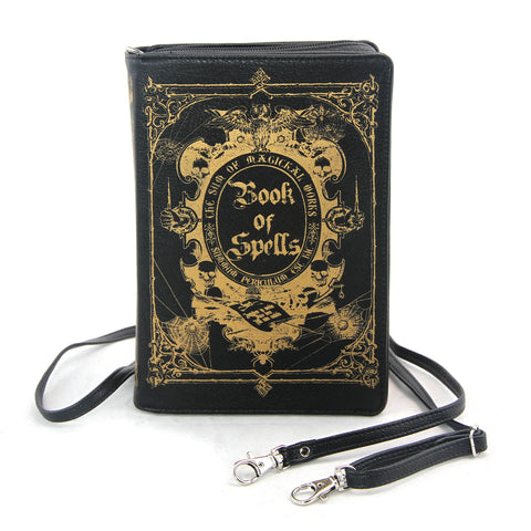 Book of Spells Clutch Bag in Vinyl Material front view