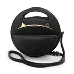 Circular Cat Ears Bag in Vinyl Material front view