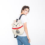 Lucky Cat Backpack in Canvas Material on model front view