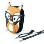 Sleepyville Critters - Foxy Fox with Vintage Eyewear Crossbody Bag, side view