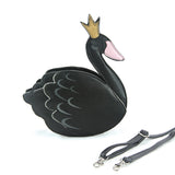 Sleepyville Critters - Swan Crossbody Bag in Vinyl Material front view