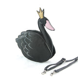 Sleepyville Critters - Swan Crossbody Bag in Vinyl Material side view