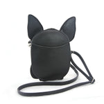 Sleepyville Critters - Chihuahua with Bow Tie Crossbody Bag in Vinyl Material back view