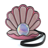 Pearl in Seashell Cross Body Bag in Vinyl Material front view