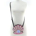 Pearl in Seashell Cross Body Bag in Vinyl Material, on mannequin front view