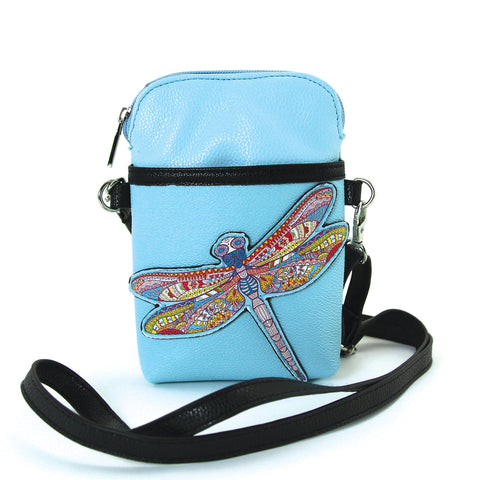 Small Dragonfly Shoulder Bag in Vinyl Material front view