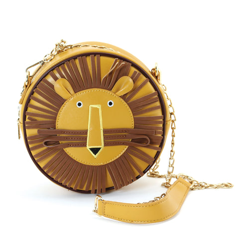 Charlie the Lion Cross Body Bag in Vinyl Material front view