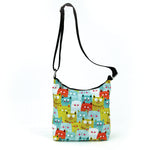 Many Many Cats Messenger Bag in Nylon front view