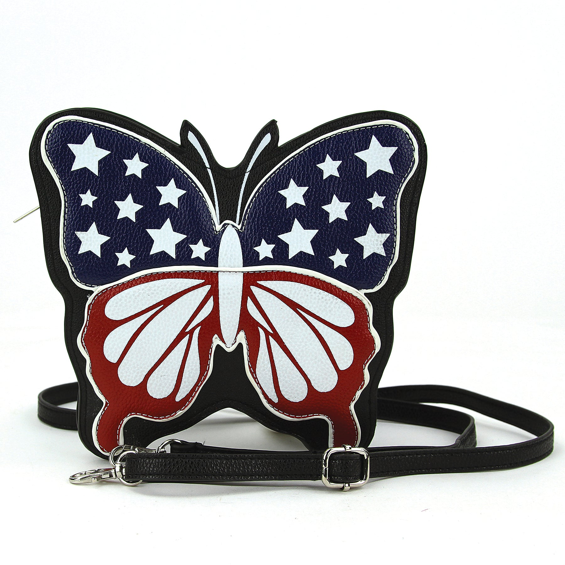 Americana Butterfly Crossbody Bag in Vinyl front view