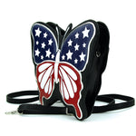 Americana Butterfly Crossbody Bag in Vinyl side view