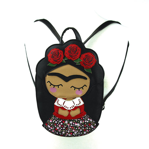 unibrow girl mini backpack front view