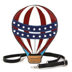 Sleepyville Critters - Hot Air Balloon Crossbody Bag in Vinyl front view