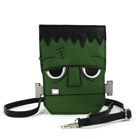 Sleepyville Critters - Frankenstein Crossbody Bag in Vinyl front view