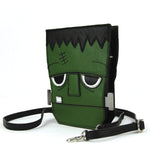 Sleepyville Critters - Frankenstein Crossbody Bag in Vinyl side view