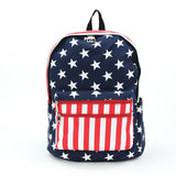 Stars and Stripes Backpack in Vinyl front view
