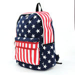 Stars and Stripes Backpack in Vinyl side view
