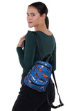 Running Horses Mini Backpack in Polyester Material, backpack style on model