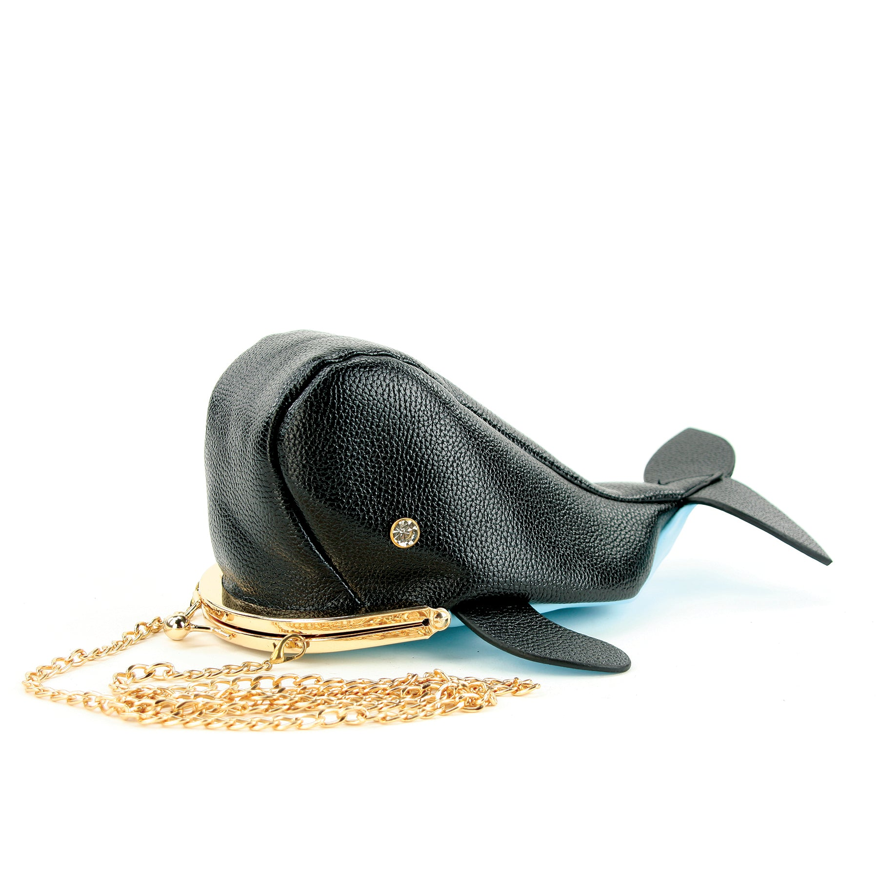 Kisslock Whale Cross Body Bag in Vinyl Material side view