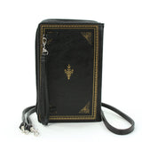 Book of Wealth Book Clutch Cross Body Bag in Vinyl Material back view
