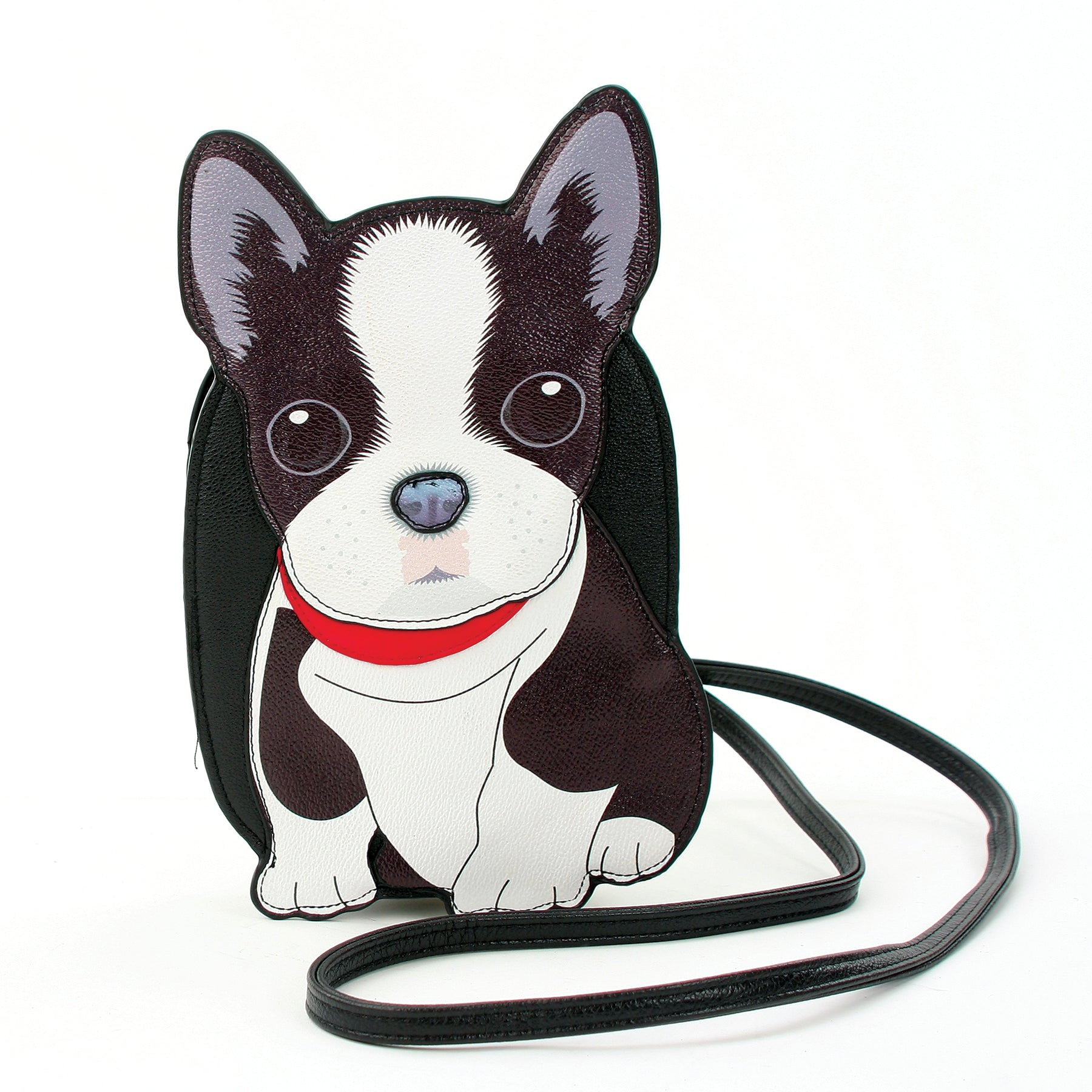 Boston Terrier Cross Body Bag in Vinyl front view