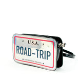 Road Trip Cross Body Bag in Vinyl Material side view