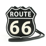 Route 66 Cross Body Bag in Vinyl Material front view