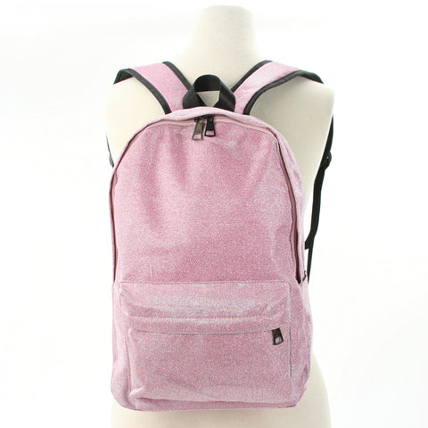 Sparkly Mini Backpack in Polyester Material front view
