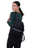 Mini Sparkly Backpack in Polyester, black color, backpack style on model