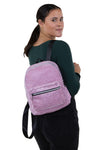 Mini Sparkly Backpack in Polyester, pink color, backpack style on model