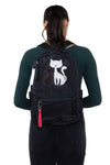 Furry Cats Backpack in Polyester, black color, backpack style on model