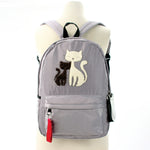 Furry Cats Backpack in Polyester, grey color front view