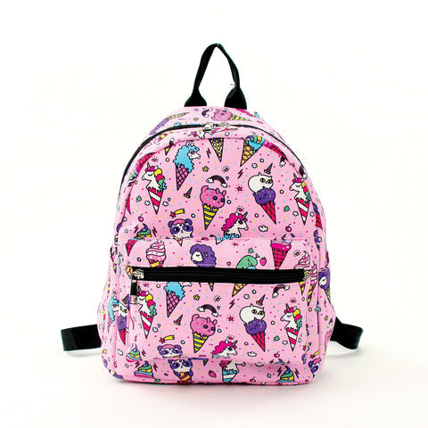 Fairy Ice Cream Mini Backpack in Polyester Material front view