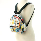 Many Cats Mini Backpack in Polyester Material side view