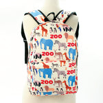 Zoo Animal Backpack in Polyester front view