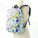 Unicorn Dream and Dino Backpack in Polyester Material side view