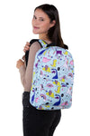 Unicorn Dream and Dino Backpack in Polyester Material, backpack style on model