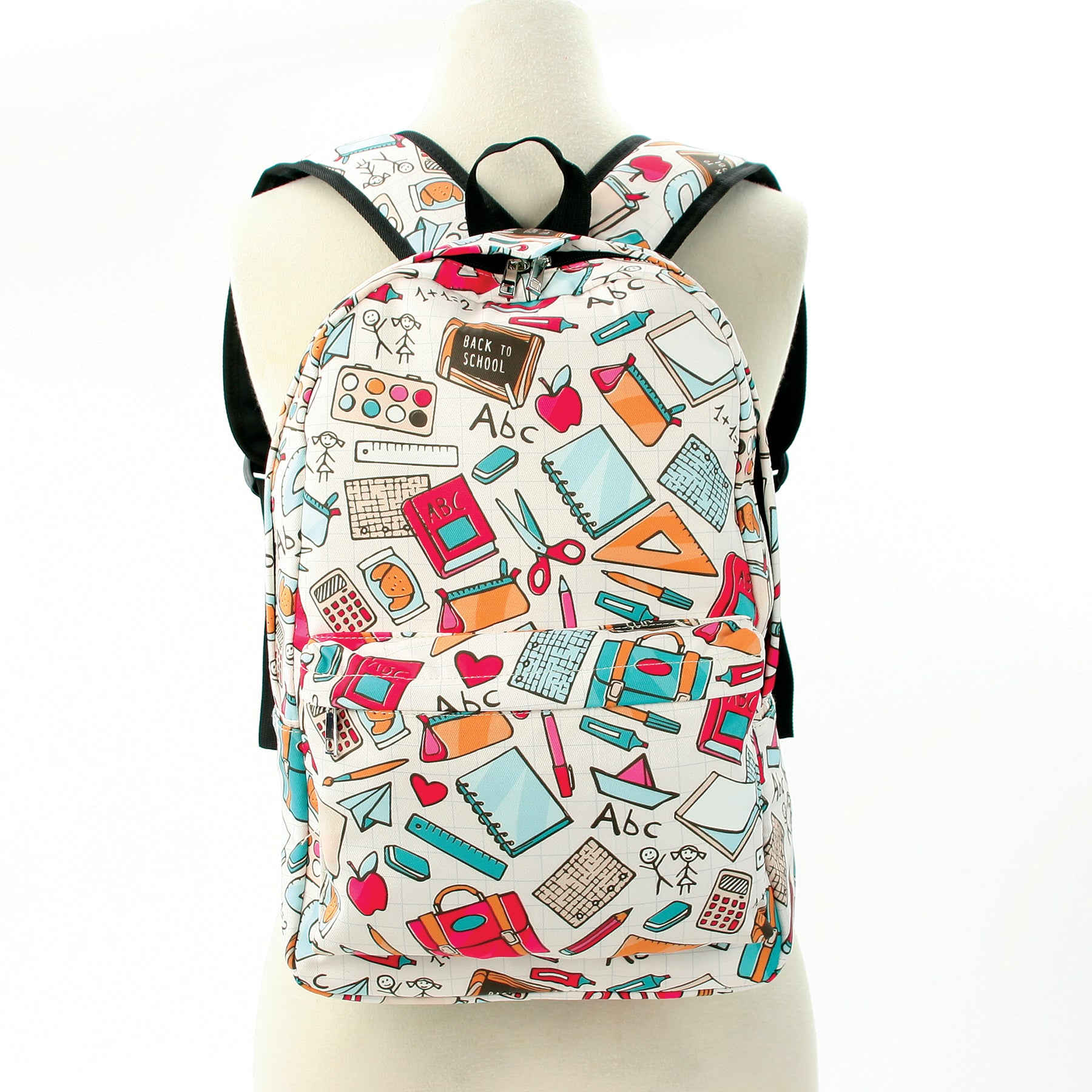 Back to School Backpack in Polyester Material front view