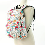 Back to School Backpack in Polyester Material side view