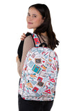 Back to School Backpack in Polyester Material, backpack style on model
