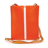 Cheese Crunch Crossbody Bag in Vinyl back view