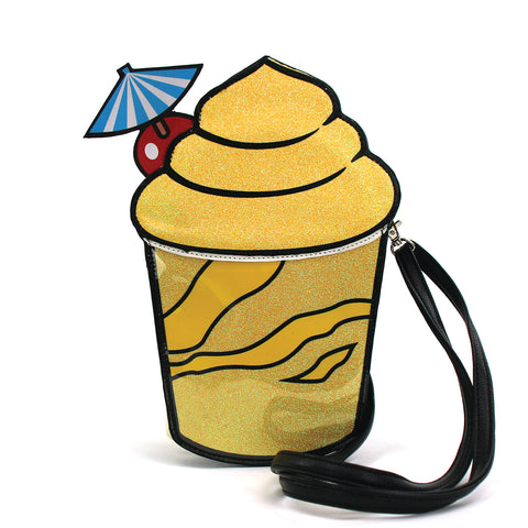 Frozen Drink Crossbody Bag in Vinyl Material front view