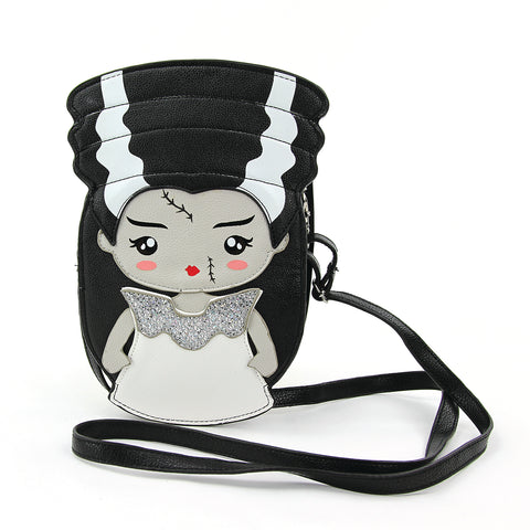 Frankenstein's Bride Crossbody Bag in Vinyl front view