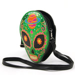 Sugar Skull Alien Crossbody Bag in Vinyl side view