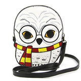 Sleepyville Critters - Snow Owl Crossbody Bag in Vinyl front view